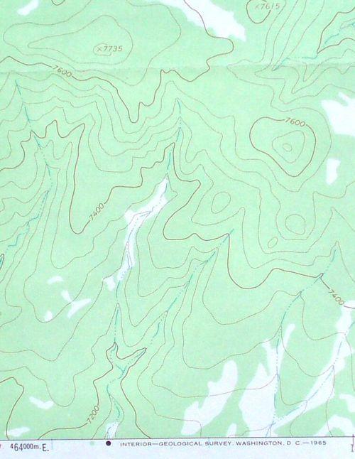 New Mexico topo map