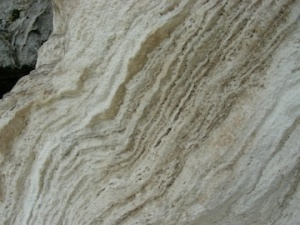 Older travertine at Soda Dam
