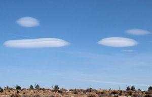 "Altocumulous lenticularis or ""UFO clouds"""