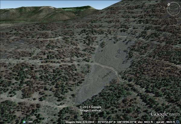 A small rock glacier in the Jemez Mountains, Valle Caldera National Preserve